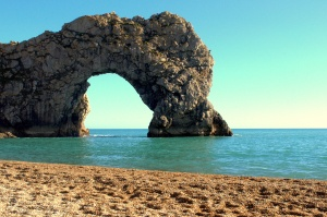 Durdle Door from the beach