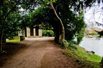 Hidden path by the river..