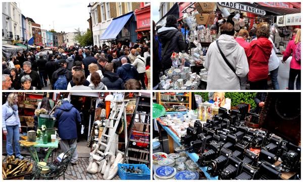 Portobello Market on a Saturday...