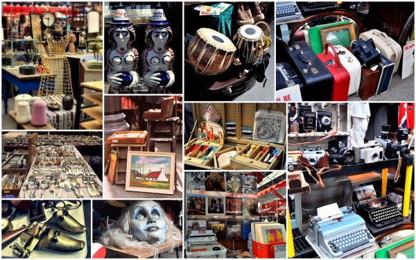 The array of things on sale at Old Spitalfields Market..